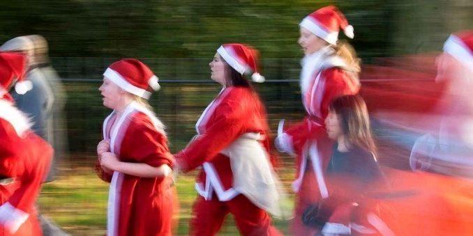 Des pères Noël en course