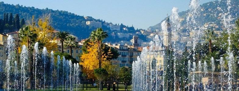 Les jets d'eau de Nice