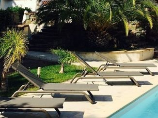 Un jardin magnifique avec piscine