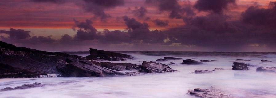 Le soir à l'Océan