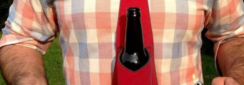 Une cravate range-bière