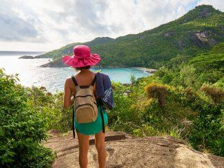 Touriste aux Seychelles