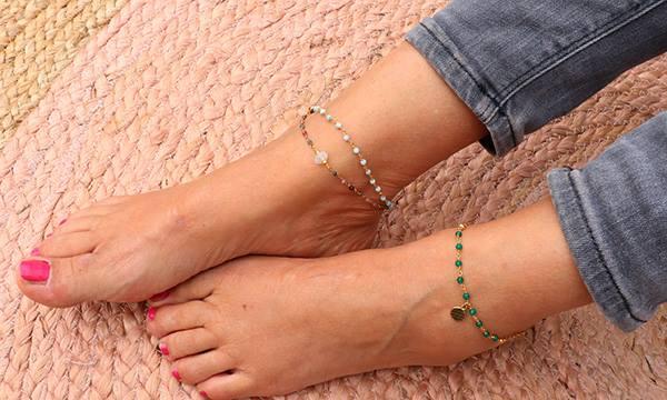 bracelet à la cheville origine